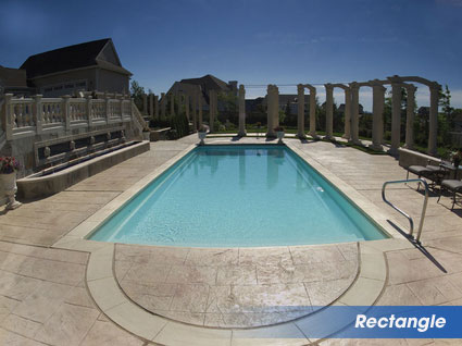 Rectangle swimming pools for warminster, pa